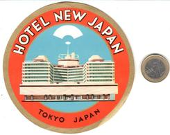 ETIQUETA DE HOTEL  - HOTEL NEW JAPAN  -TOKYO  -JAPAN - Hotel Labels