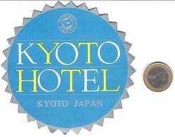 ETIQUETA DE HOTEL  - KYOTO HOTEL  -KYOTO  -JAPAN - Hotel Labels