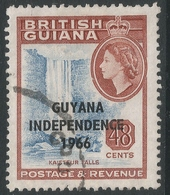 Guyana. 1966 Independence O/P. 48c Used. Sideways Block CA W/M SG 405 - Guyana (1966-...)