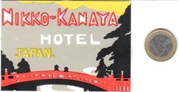 ETIQUETA DE HOTEL  - NIKKO-KANAYA HOTEL  -JAPAN - Hotel Labels