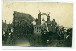 CPA  WERVICQ  SUD   CORTEGE FOLKLORIQUE  1945  FETE LOCALE - France