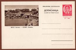 YUGOSLAVIA-CROATIA, SPLIT, 3rd EDITION For INTERNATIONAL TRAFFIC POSTAL CARD RRR!! - Ganzsachen