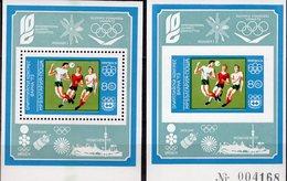 Fußball WM 1974 Bulgarien Blocks 42A+B ** 32€ Spieler INTELSAT Hb Olympic M/s Blocs Sport Sheets Soccer Bf Bulgaria - Coppa Del Mondo