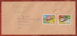 Luftpost, Muscheln, Aitutaki Cook Islands Nach Auckland 1978? (71780) - Aitutaki
