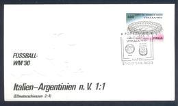 Italy 1990 Cover: Football Fussball Soccer Calcio: Fifa World Cup Italia 90; Italy - Argentina, Stadio San Paolo Napoli - World Cup