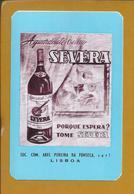 Calendário De 1966. Publicidade. Old Brandy. 'Severa'. Guitarra. Drink. Abel Pereira Da Fonseca. Cognac Trinken. Lisboa. - Liquor & Beer