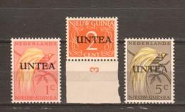 Netherlands New Guinea (United Nations Interim) 1963 Mi 1-3 Type II MNH BIRDS - Nederlands Nieuw-Guinea