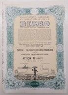 Exploitations Agricoles Et Industrielles De La Biaro 1944 - 25 000 000 Francs Congolais - Lot Of 3 Bonds - Afrika