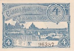 PORTUGAL SANTO TIRSO - CÉDULA De 4 CENTAVOS  - EMERGENCY PAPER MONEY - Bankbiljetten