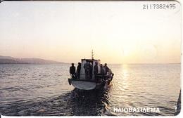GREECE(chip) - Boat, Elafonisos Island, 04/96, Used - Boats