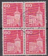 Schweiz 1960 MiNr.705x 4er Block O Gest. Baudenkmäler ( 8957 )günstige Versandkosten - Oblitérés
