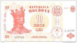 2013. Moldova, 10 Leu 2013, P-10, UNC - Moldova