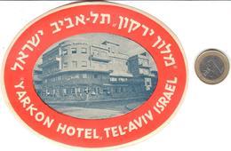 ETIQUETA DE HOTEL  -YARKON HOTEL  -TEL-AVIV  -ISRAEL - Hotel Labels