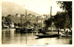 N°72209 -cpa Saverne -bassin Du Canal -péniches- - Péniches