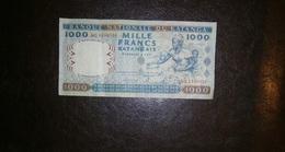 KATANGA 1000 FRANCS 1962 - Billetes