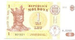 1 Leu 2010, P-8, UNC - Moldova