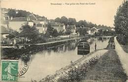 -dpts Div.-ref-AH476- Haute Marne - Tronchey - Vue Prise Du Pont Canal - Canaux - Peniche - Peniches - Carte Bon Etat - - France