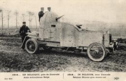GUERRE DE 1914 - En Belgique Près De Dixmude (Diksmuide) Auto Mitrailleuse Belge. - Oorlog 1914-18