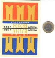 ETIQUETA DE HOTEL  - HOTEL POCCHA  .MOSCOW  -RUSIA - Hotel Labels