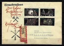 DDR - RECO-Beleg Mi-Nr. 1142 - 1145 Mit Ersttags-Tagesstempel RUDOLSTADT-SCHWARZA - DDR