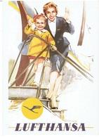 Werbekarte LUFTHANSA - Retro-Motiv - Flugwesen