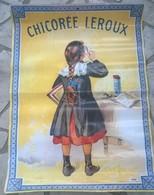 Affiche Publicité Chicorée Leroux  60 Cm X 85 Cm - Publicité