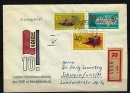 DDR - RECO-Beleg Mi-Nr. 895 - 897 Mit Ersttags-Tagesstempel JENA - DDR