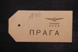 U.R.S.S. - Étiquette De Colis Par Avion - L 27144 - Covers & Documents