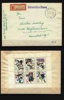 DDR - RECO-Beleg Kleinbogen Mi-Nr. 1236 - 1241 Stempel JENA - Siehe Bild Mit Vorder- Und Rückseite - [6] Democratic Republic