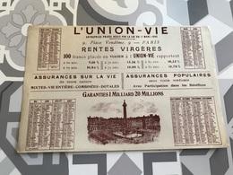 Buvard Ancien  L'UNION VIE RENTES VIAGÈRES ASSURANCES - Liquor & Beer