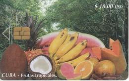 91/a TARJETA DE CUBA DE FRUTAS TROPICALES CHIP I-3a  (RARA) - Cuba