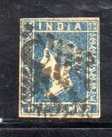 APR41 - INDIA INGLESE 1854 , Yvert N. 2A  Usato  (2380A) . - India (...-1947)