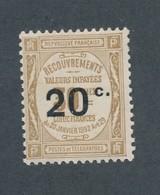 FRANCE - TAXE N°YT 49 NEUF* AVEC CHARNIERE - COTE YT : 40€ - 1917 - Taxes