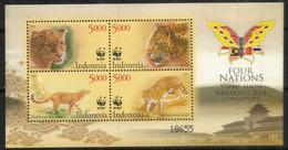 Panthère De Java. WWF. Bloc-feuillet Neuf **   INDONESIE Année 2014 - Big Cats (cats Of Prey)