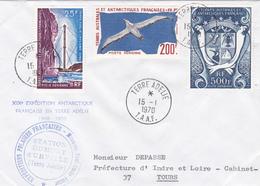 TIMBRE DE COLLECTION TAAF PA N° 4, 13 Et 21 Grand Albatros, Pylône Iono Et Armoiries Des TAAF @ 1ER JOUR Sur ENVELOPPE - Lettres & Documents