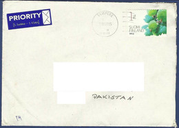 FINLAND POSTAL USED AIRMAIL COVER TO PAKISTAN - Airmail