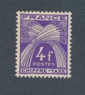 FRANCE - TAXE N°YT 74 NEUF* AVEC CHARNIERE - COTE YT : 3€80 - 1943/46 - Taxes