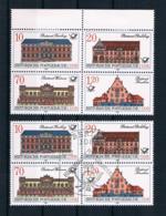 DDR 1987 Postgebäude Mi.Nr. 3067/70 4er Block ** + Gestempelt - Neufs