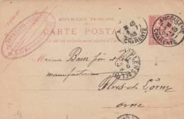 "Angouleme - Cachet Magasin  "" CHEVALLIER CHERADU  "" Sur Entier Postal - Scan Recto-verso - Postales Tipos Y (antes De 1995)"