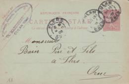 "Culan  - Cachet Magasin  "" Th MARTIGNAT   "" Sur Entier Postal - Scan Recto-verso - Cartes Postales Types Et TSC (avant 1995)"