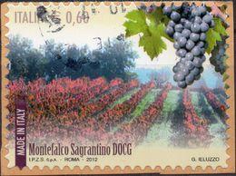 REPUBBLICA 2012 - MADE IN ITALY, VINI DOCG, MONTEFALCO SAGRANTINO - 1 VALORE USATO - 2011-...: Usati
