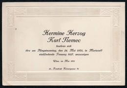 C4180 - Mariazell Wien - Hermine Herzog Karl Nemec Visitenkarte - Visitenkarten
