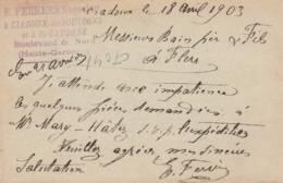 "Saint Gaudens   Cachet Negociant "" R. FERRERE ""  Sur Entier Postal - Scan Recto-verso - Enteros Postales"