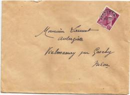 Env. Complète - Affranchie Par Préo - Vielmanay (Nièvre) 11-10-1941 - Covers & Documents