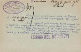 """TOULOUSE  Cachet Magasin  """"MAISON LAPERSONNE  E.BOUGEAT """"  Sur Entier Postal - Scan Recto-verso - Enteros Postales"""