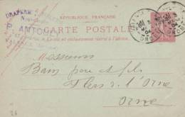 "VALENCE - Cachet Magasin "" P. ANTOULY    "" Sur Entier Postal - Scan Recto-verso - Enteros Postales"