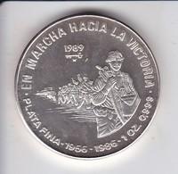 MONEDA DE PLATA DE CUBA DE 10 PESOS AÑO 1989 EN MARCHA HACIA LA VICTORIA - Cuba