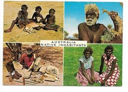 19) 4 PICTURES OF NATIVE INHABITANTS, AUSTRALIA. - Aborigines