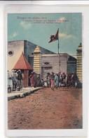 BENGASI. IL CANCELLO D'INGRESSO ALLA BANCHINA DELLA DOGANO E CUSTIODITA DAI MARINAI ITALIANI- CPA CIRCA 1900s - BLEUP - Libia