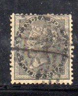 APR50 - INDIA INGLESE 1856 , 4 Anna Nero Yvert N. 15  Usato (2380A) . - India (...-1947)
